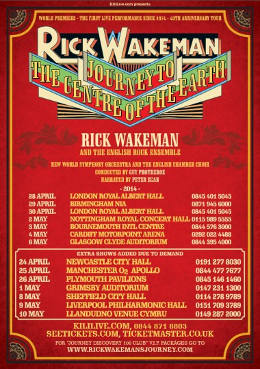 Rick Wakeman revised tour poster