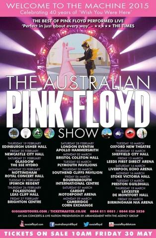 Australian Pink Floyd 2015 poster