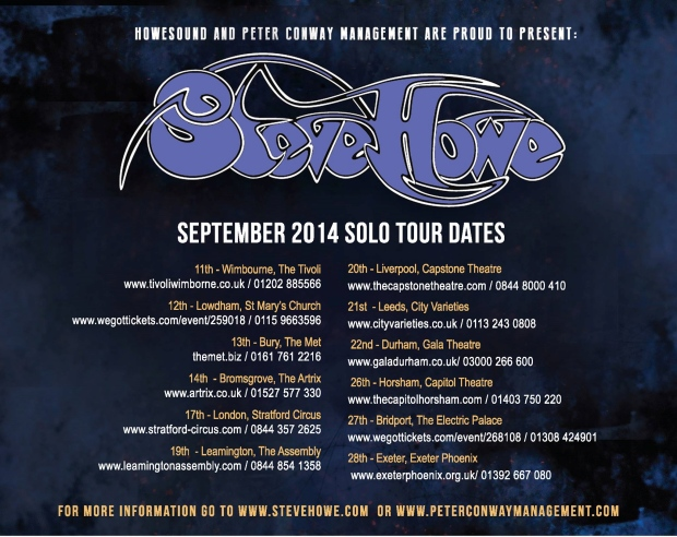 Steve Howe Tour Dates