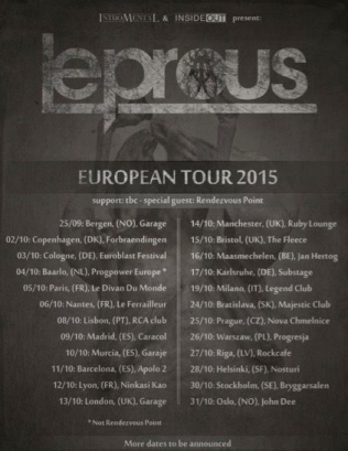 Leprous 2015 tour poster