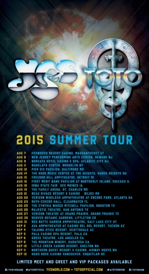 Yes & Toto Tour poster