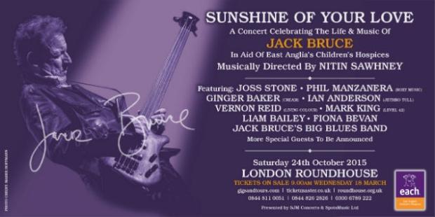 Jack Bruce tribute concert poster