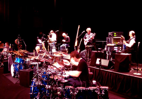 King Crimson in reheasal - courtesy Sid Smith/DGM