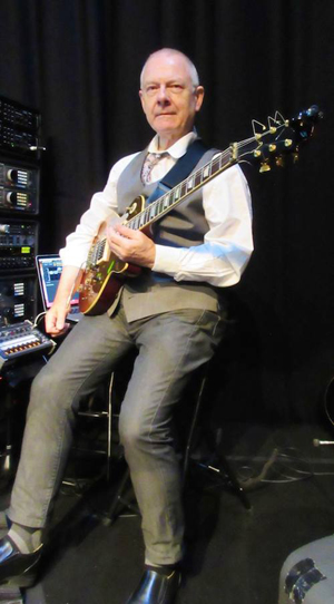 Robert Fripp in rehearsal - courtesy Sid Smith/DGM