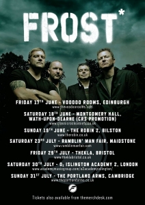 Frost* 2016 Tour poster