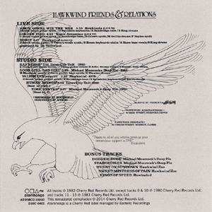 Hawkwind Friends & Relations - back cover