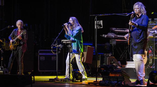 Yes - Steve Howe, Jon Davison, Billy Sherwood. Photo by Anthony Firmin