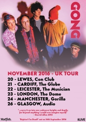 Gong UK tour poster 2016