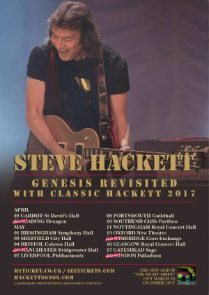 Steve Hackett - UK Tour poster
