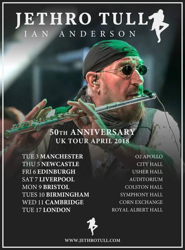 Jethro Tull 2018 Tour Poster
