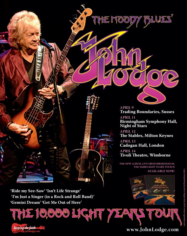 John Lodge 10,000 Light Years Tour Poster