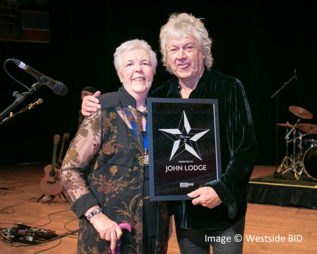 John Lodge with Cllr Anne Underwood