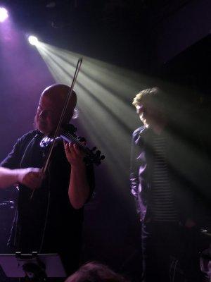 Steve Bingham & Tim Bowness, photo by Denis Anderson