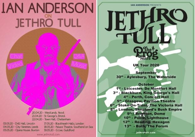 Ian Anderson Tour & Jethro Tull Tour Posters