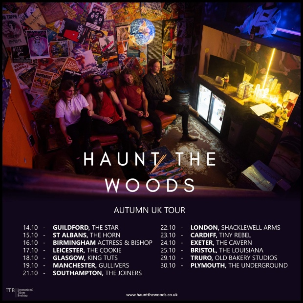 Haunt The Woods- 2020 UK Tour Poster