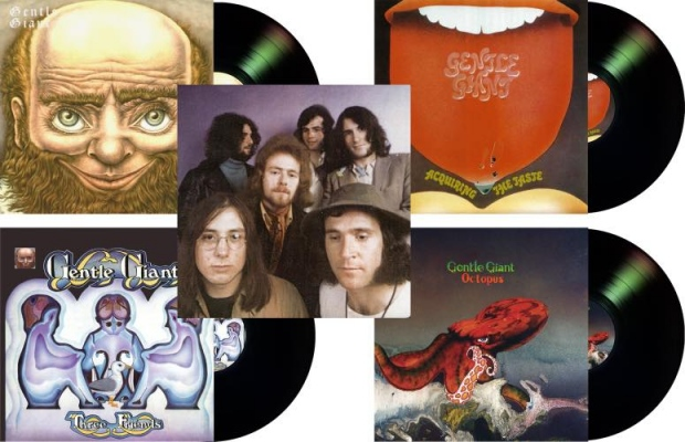 Gentle Giant – Vinyl Reissues: Gentle Giant | Acquiring The Taste | Three Friends | Octopus