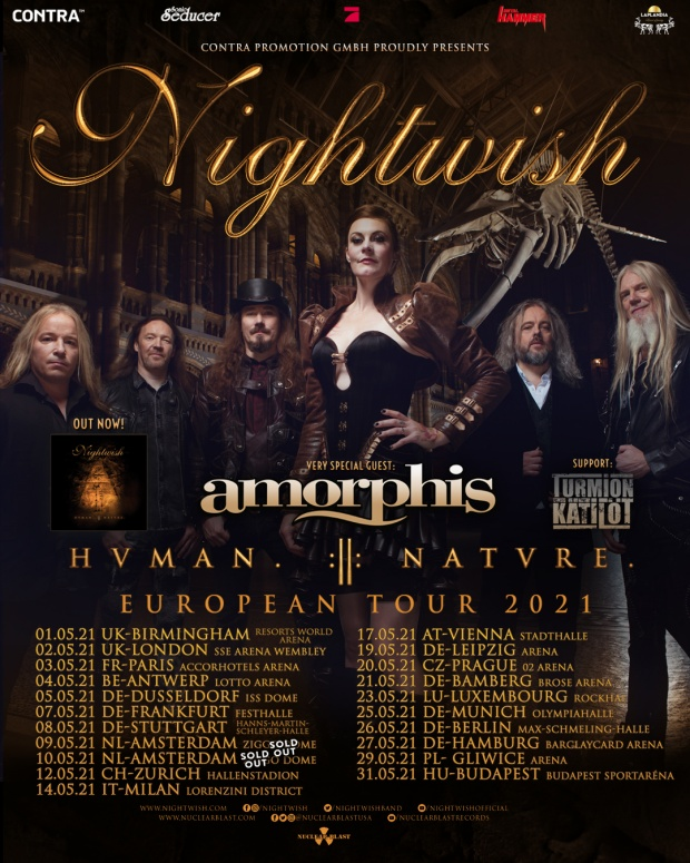Nightwish 2021 European Tour Poster