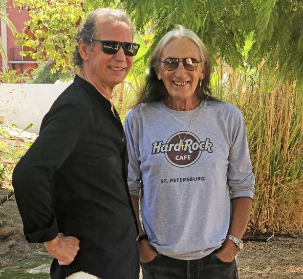 Ken Hensley & Vladimir Emelin photo by Monica Hensley