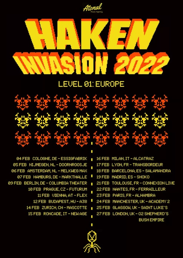 Haken 2022 Tour Poster