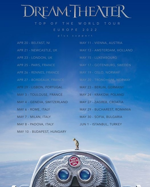 Dream Theater European Tour Poster 2022