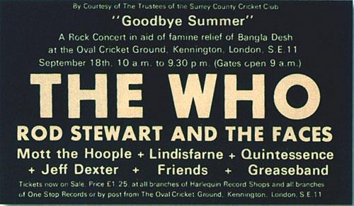 Goodbye Summer - Oval Ticket