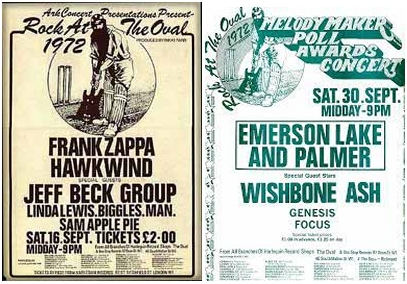 The Oval posters 1972